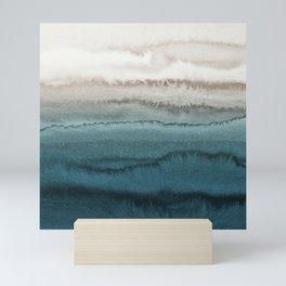 WITHIN THE TIDES - CRASHING WAVES TEAL Mini Art Print