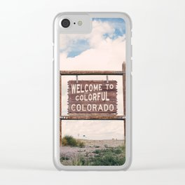 Welcome to Colorful Colorado Clear iPhone Case