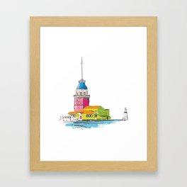 Maiden's Tower, Istanbul Framed Art Print