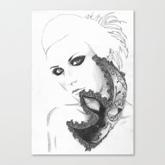 Mask girl Canvas Print