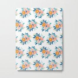 Floral Bloom Bundle in Blue Metal Print
