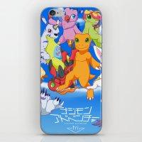 digimon iPhone & iPod Skins featuring Digimon Tri by Kazenishi
