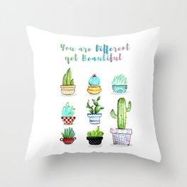 Cactus Beauties Throw Pillow