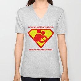 #BREASTFEEDINGFATHERS Super Supporter Tee Unisex V-Neck
