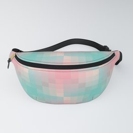 Pastel mozaic gradient pattern in pink and cyan Fanny Pack