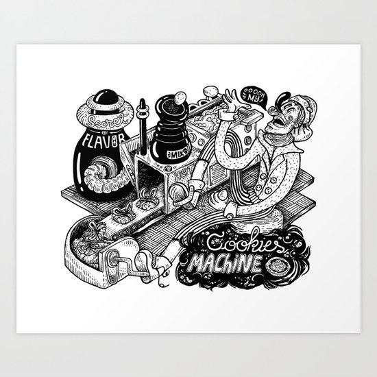 Cookies Machine Art Print