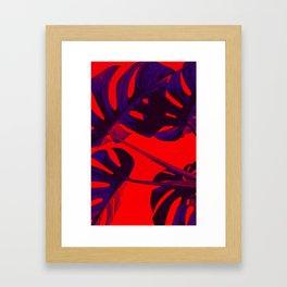 Palm tree leaf Framed Art Print