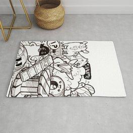 Kawaii Doodle - Goat Love Rug