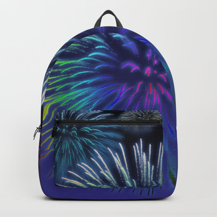 Colorful Fireworks Backpack
