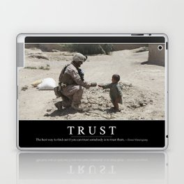 Trust: Inspirational Quote and Motivational Poster Laptop & iPad Skin