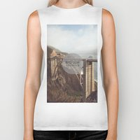 big sur Biker Tanks featuring Big Sur by Chris Mongeau