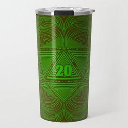 Natural 20 Mandala Woodland Stride Travel Mug