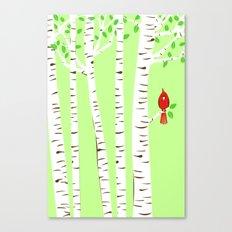 Spring Cardinal Wall Art Canvas Print