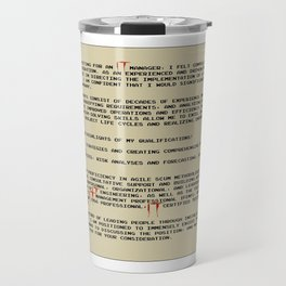 IT Manager Cover Letter Travel Mug