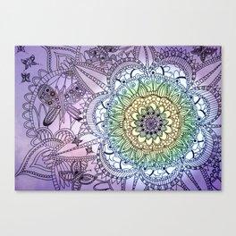 Purple Butterfly Mandala Canvas Print