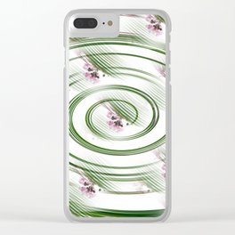 Spinning Flowers Clear iPhone Case