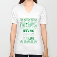drunk V-neck T-shirts featuring DRUNK by Insait Disseny