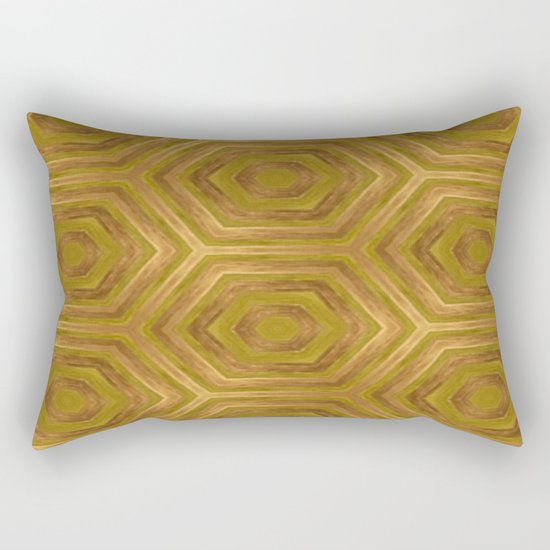 Golden - Cooper Geometric Abstract Rectangular Pillow