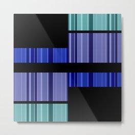 An abstract geometric pattern . Alex 4. Metal Print