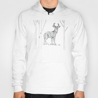 stag Hoodies featuring Stag  by Leanna Rosengren