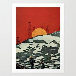 Sunset over Tibet Art Print
