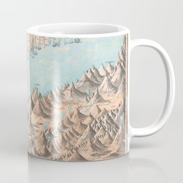 Chart of the World's Mountains and Rivers - Geographicus Coffee Mug
