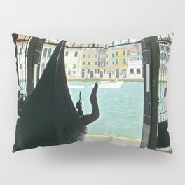 Gondola on Giudecca Island, Grand Canal, Venice Pillow Sham