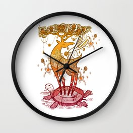 Deer  Turtle And Rabbit Wall Clock