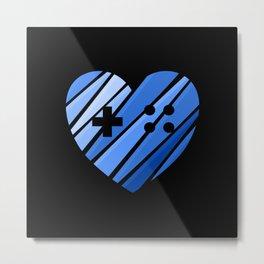 Gamer Boy Blue Metal Print