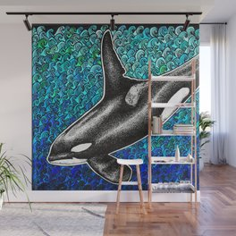 Orca killer whale and ocean Wall Mural