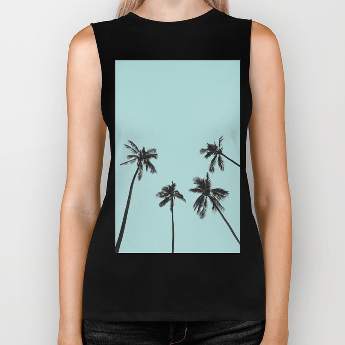 Palm trees 5 Biker Tank