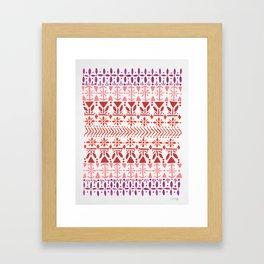Norwegian Pattern – Reds & Corals Framed Art Print