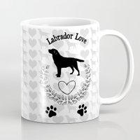 labrador Mugs featuring Labrador Love by naturessol
