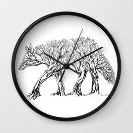 TreeWolf Wall Clock