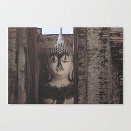 Wat Si Chum Buddha at Sukhothai Historical Park Canvas Print