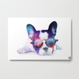 Space Frenchie  Metal Print