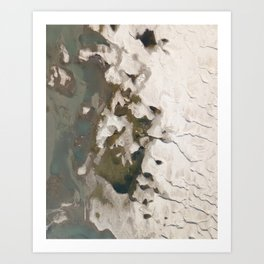 River and sand Art Print