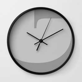 Grey #society6 #decor #buyart Wall Clock