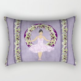 Ballerina Orchid Wreath Rectangular Pillow
