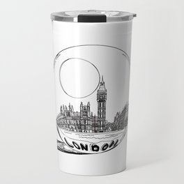 London city in a glass ball . Home Decor, Art prints Travel Mug