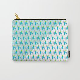 Artistic green teal hand painted bohemian arrows Carry-All Pouch