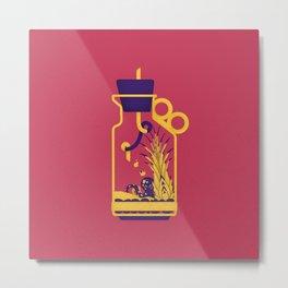 """poster : bottle 1 """"biberon de sel"""" Metal Print"""