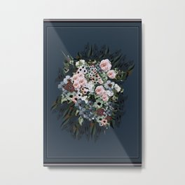 Moody floral on velvet Metal Print
