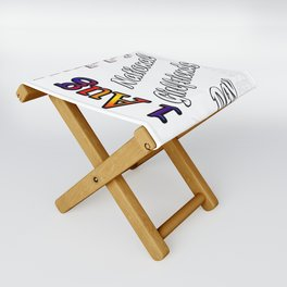 Aug 1st National Girlfriends Day Fun Gift Idea Design Folding Stool