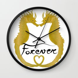 Love Horse Fish Forever Wall Clock
