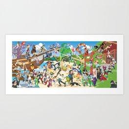 Pirates vs Ninjas Art Print