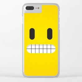 Grin emoji face Clear iPhone Case
