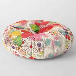 joyful floral decor Floor Pillow