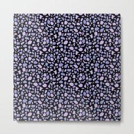 Terrazzo in Lilacs and Black Metal Print