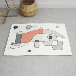 Abstract Painting of a Dog - Modern Artwork   2B Rug